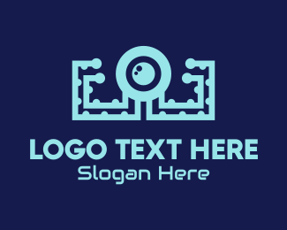Squid - Tech Octopus logo design