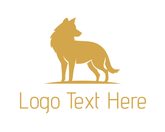 Wolf - Golden Wolf logo design