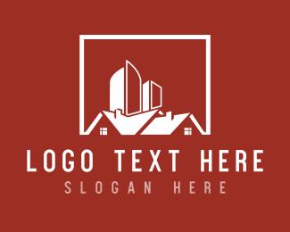 Skyline - Red Houses logo design