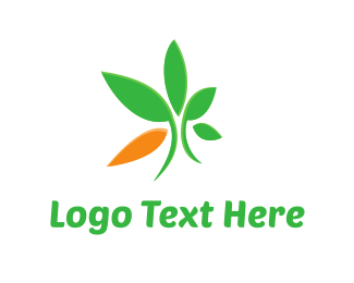 Land - Eco Green Leaves logo design