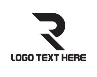Record Label - Black Letter R logo design