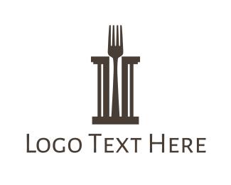 Pillar - Fork Pillar logo design