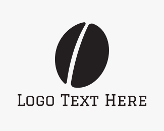 Coffee - Black Coffee Bean logo design