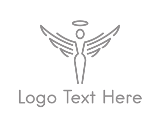 Church - Heaven Angel logo design
