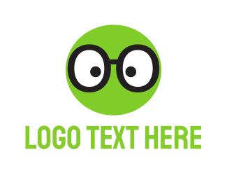 Glasses - Green Geek Glasses logo design