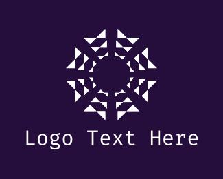 Geometric - Geometric Flower logo design