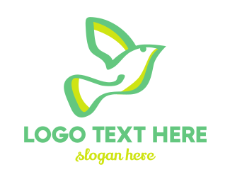 Pigeon - Green Dove logo design