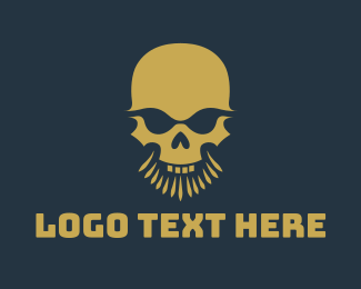 Corps - Beard Skull Head logo design
