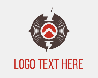 Vinyl - Thunder Circle logo design