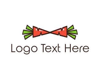 Farm - Carrot Bow Tie logo design