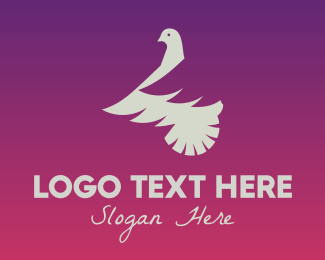 White - White Dove logo design