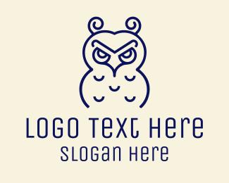 Birdie - Furious Owl logo design