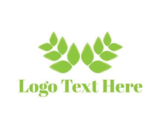 Herbal - Green Leaves logo design