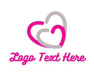 Love - Love Hearts logo design