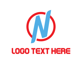 Net - Blue Letter N logo design