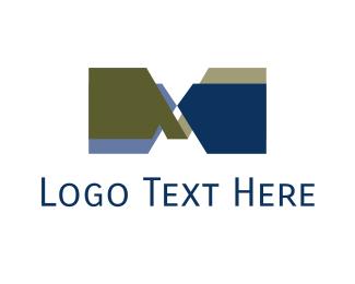 Symbol - Blue Letter M  logo design