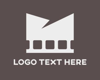 Theater - White Film logo design