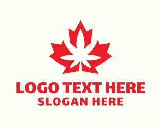 Weed - Canadian Cannabis logo design