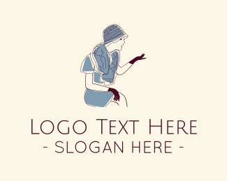 Glove - Vintage Dress logo design