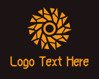 Black And Orange - Star Circle logo design