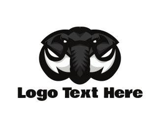 Strength - Black Mammoth logo design