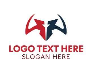 Buffalo - Sharp Horns logo design