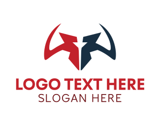 Cattle - Sharp Horns logo design