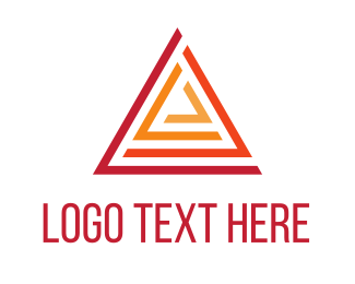 Triangular - Red Abstract Triangle logo design