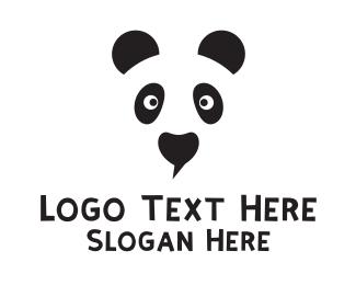 China - Panda Face logo design