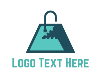 Mall - Monster Shopping Bag logo design