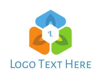 Lettermark - Modern Flower Lettermark logo design