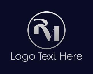 Initial - Eagle R & M logo design