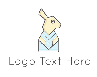 Hare - Rabbit Paper logo design