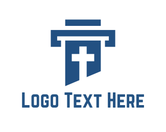 Column - Cross Column logo design