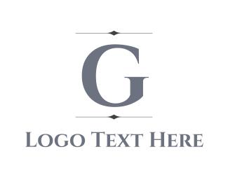 Silver Letter G Logo