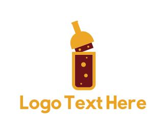 Supplements - Yellow Bottle logo design