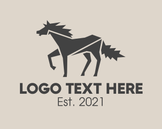 Black And White - Wild White Horse logo design
