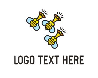 Wasp - Bee Buzz logo design
