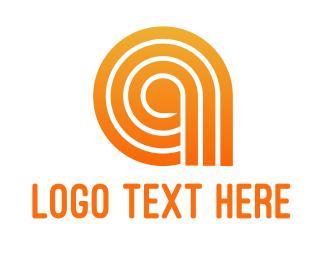 Pattern - Orange A Line Pattern logo design