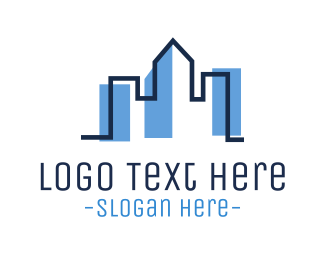 Seattle - BLue Skyline logo design