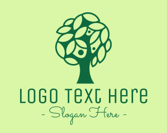 Family - Green Tree Family logo design