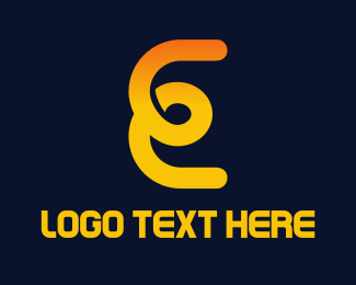 Swirl - E Loop logo design