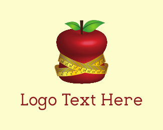 Fat - Fit Apple logo design