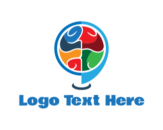 Location - Brain Locator logo design