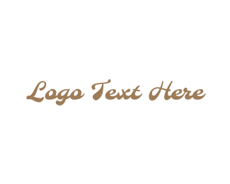Fudge - Gold  & Vintage logo design