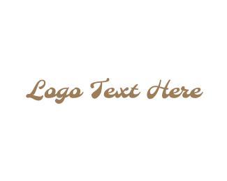 Handwritten - Gold  & Vintage logo design