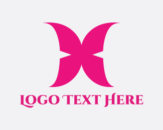 Wing - Pink Wings logo design
