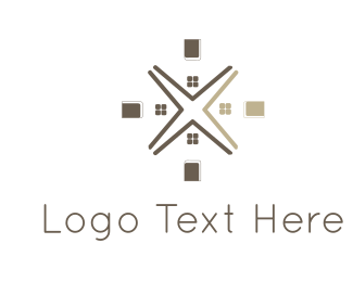 Door - House Flower logo design