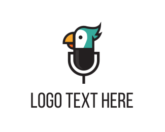 Speak - Bird Mic logo design