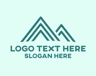 Skiing - Blue Peak logo design